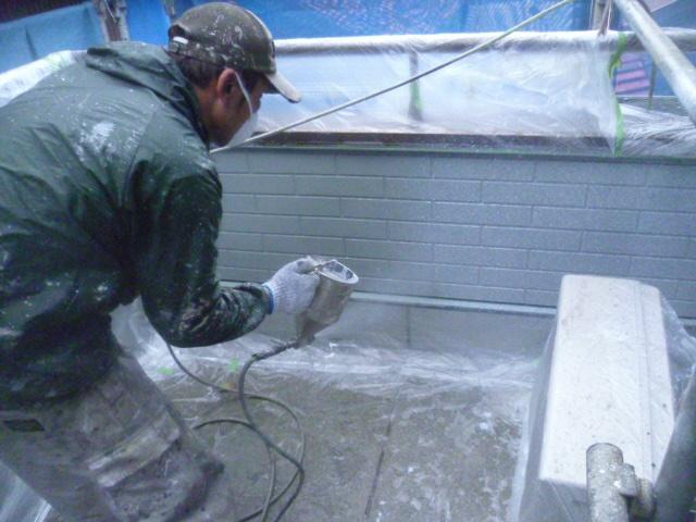 和泉市のサイディング外壁上塗り