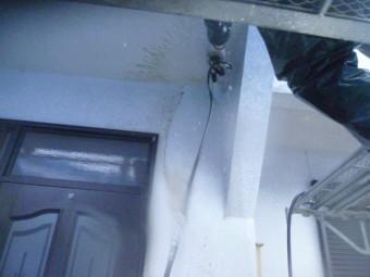 和歌山市善明寺の玄関周り洗浄