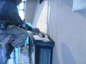 貝塚市の出窓の上塗装