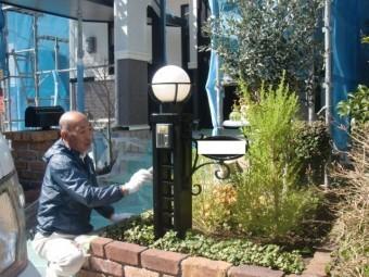 岸和田市包近町の機能ポール塗装