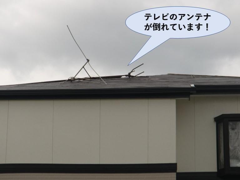 岸和田市のテレビのアンテナが倒壊