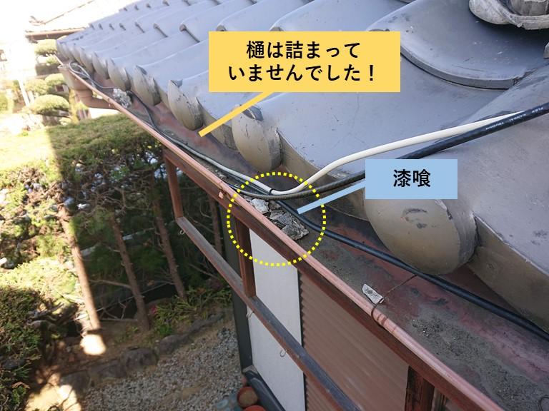 貝塚市の樋は詰まっていませんでした!