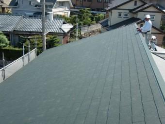 岸和田市上松町の屋根スレート瓦の母屋の葺き替え