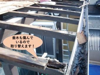 泉大津市の屋根の垂木も傷んでいるので取り替えます!