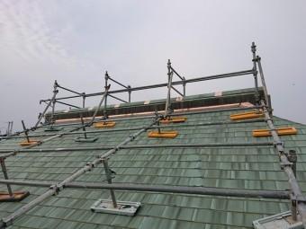 岸和田市の銅板屋根の修理完了!