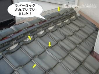 岸和田市の屋根がラバーロックされていました