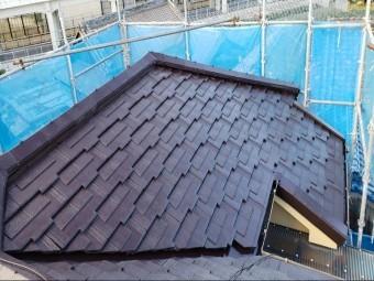 忠岡町の屋根塗装完了状況