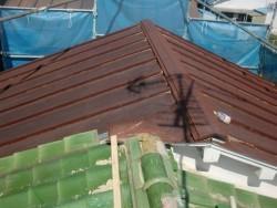 泉佐野市の塗装前の屋根