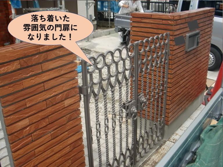 岸和田市の落ち着いた雰囲気の門扉になりました!