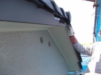 岸和田市天神山町の破風板塗装