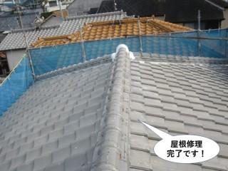 泉南市の屋根修理完了です