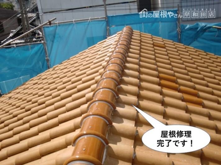 和泉市の屋根修理完了です
