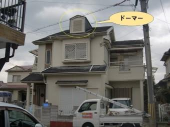 和泉市の屋根のドーマー