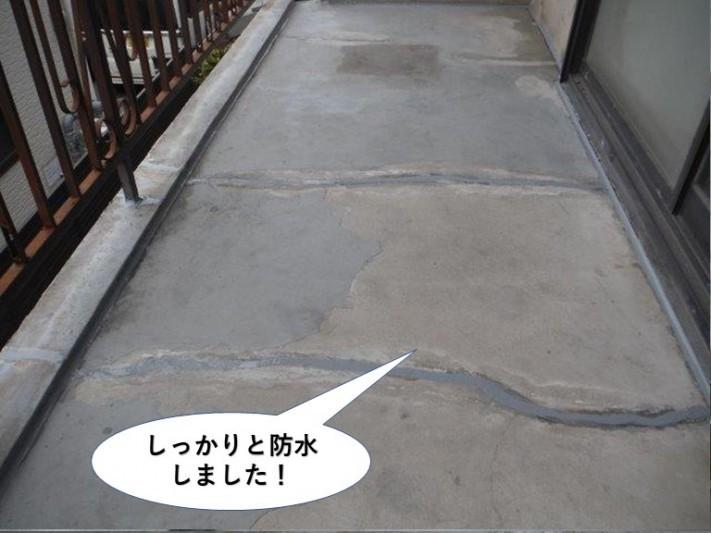 泉大津市のベランダをしっかりと防水しました