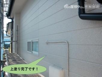 岸和田市の上塗り完了です