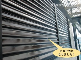 泉大津市の雨戸がピカピカになりました