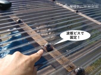 岸和田市の波板を波板ビスで固定