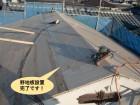 高石市の屋根に野地板設置完了です