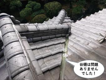 阪南市の谷樋は問題ありませんでした