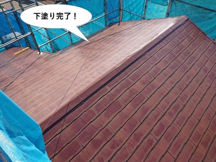 和泉市の屋根の下塗り完了