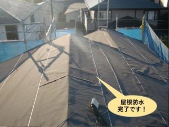 高石市の屋根防水完了です