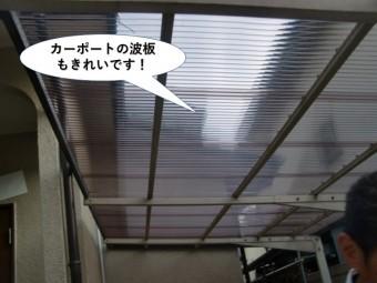 岸和田市のカーポートの波板もきれいです