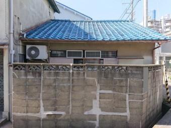 岸和田市の下屋の様子