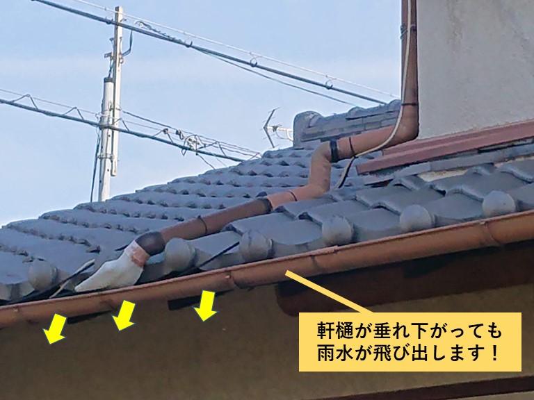 貝塚市の雨樋点検