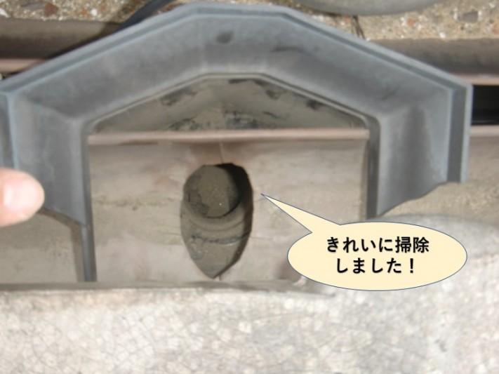 泉大津市の樋をきれいに掃除しました