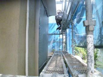 岸和田市西之内町の外壁高圧洗浄