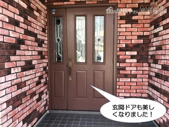 和泉市の玄関ドアも美しく