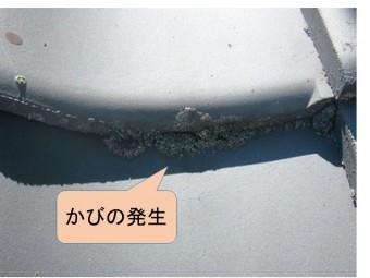 岸和田市天神山町の和瓦の葺替え工事の現地調査