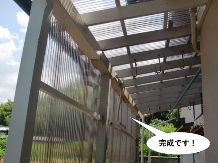 岸和田市のテラスリフォーム完成です