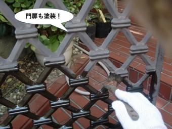和泉市の門扉も塗装