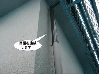 岸和田市の雨樋を塗装します