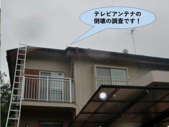 岸和田市のテレビアンテナの倒壊の調査