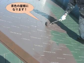 阪南市の屋根・茶色の屋根になります!