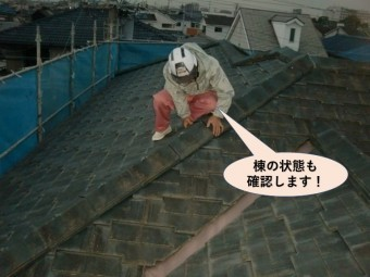 岸和田市の棟の状態も確認します!
