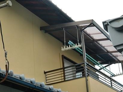 岸和田市春木本町の外壁塗装の雨樋・雨戸などの塗装