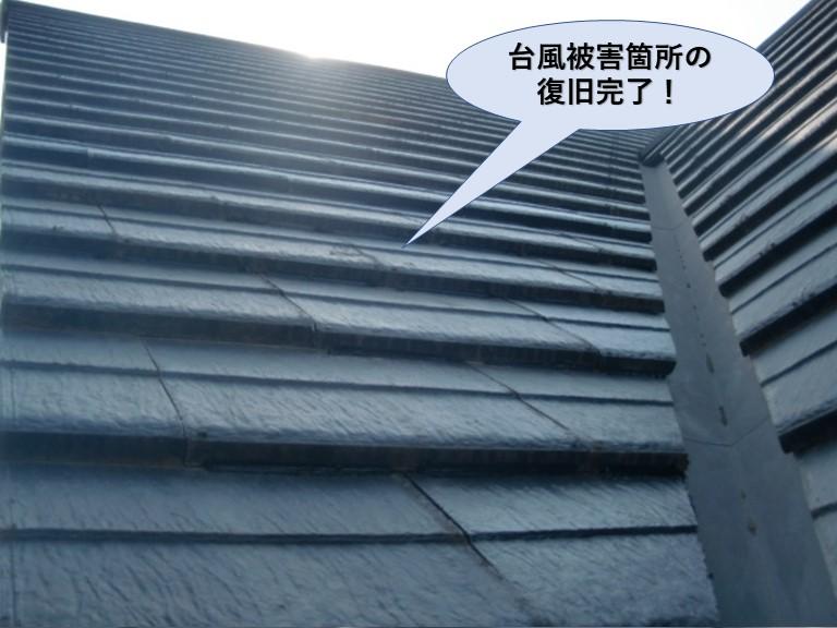 忠岡町の台風被害箇所の復旧完了