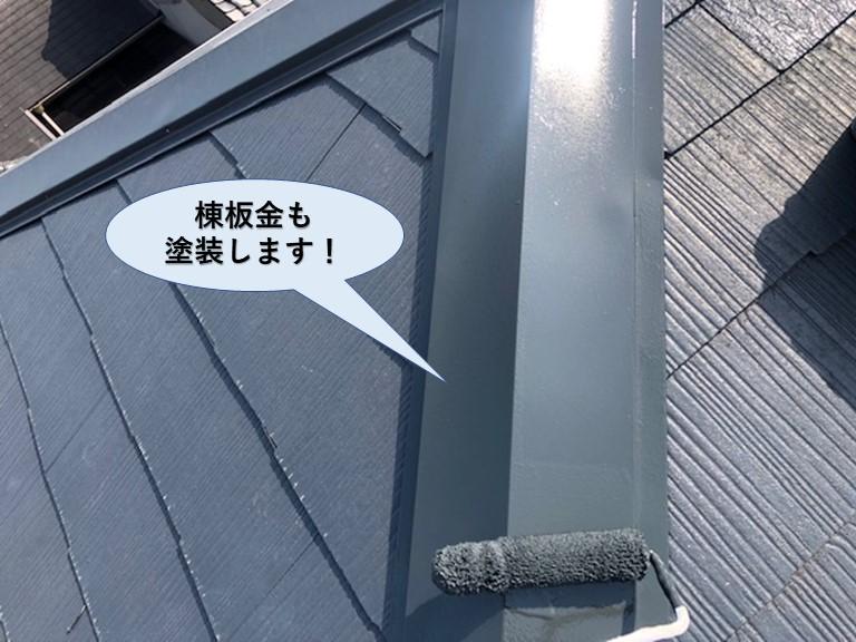 泉大津市の棟板金も塗装