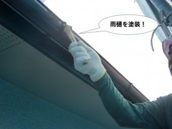 和泉市の雨樋を塗装