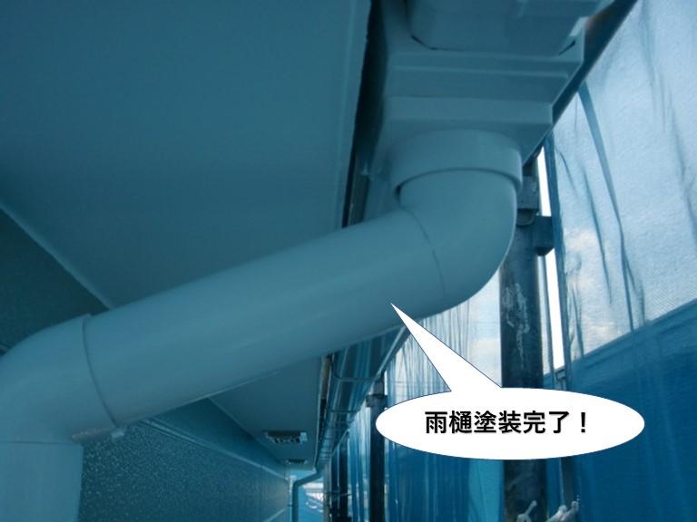 岸和田市の雨樋塗装完了