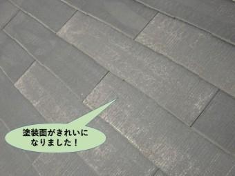岸和田市の屋根の塗装面がきれいになりました