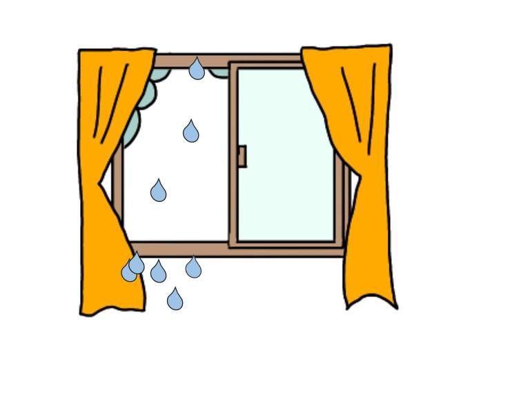 窓からの雨漏り