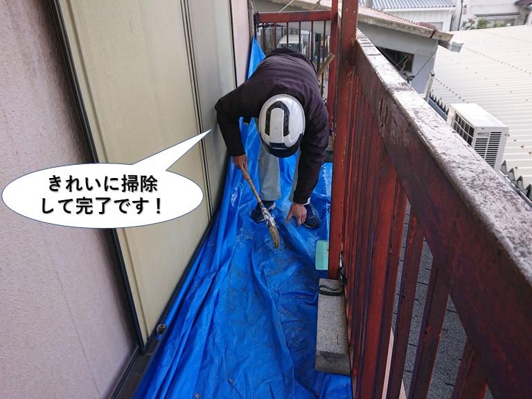 阪南市の現場をきれいに掃除して完了です