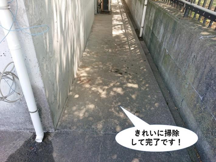 泉大津市の現場をきれいに掃除して完了です