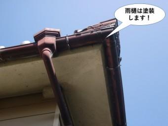 岸和田市の雨樋は塗装します