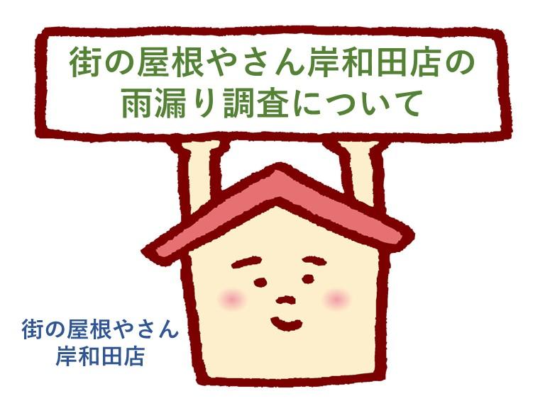 街の屋根やさん岸和田店の雨漏り調査について