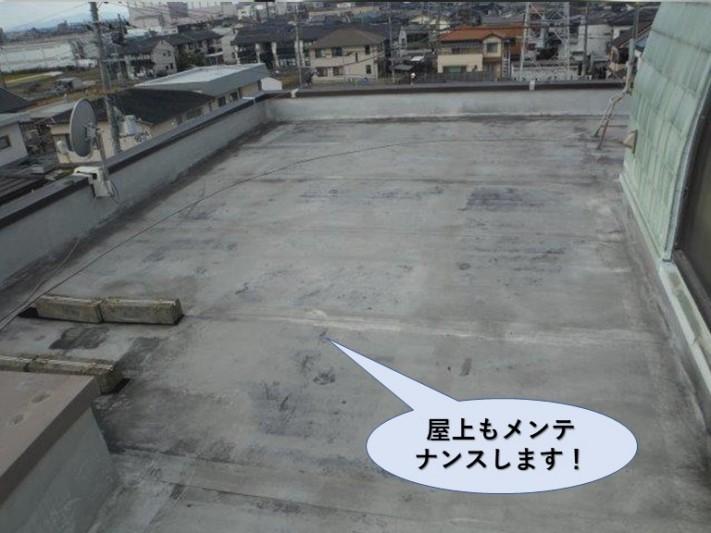 貝塚市の屋上もメンテナンスします!